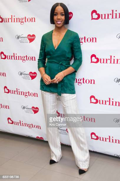 """Kelly Rowland poses for photographers during Burlingtonâs launch of W""""omenâs Heart Health Month with Kelly Rowland"""" event. At Burlington Coat Factory..."""