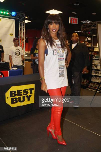 Kelly Rowland promotes the new album 'Talk A Good Game' at Best Buy on June 18 2013 in New York City