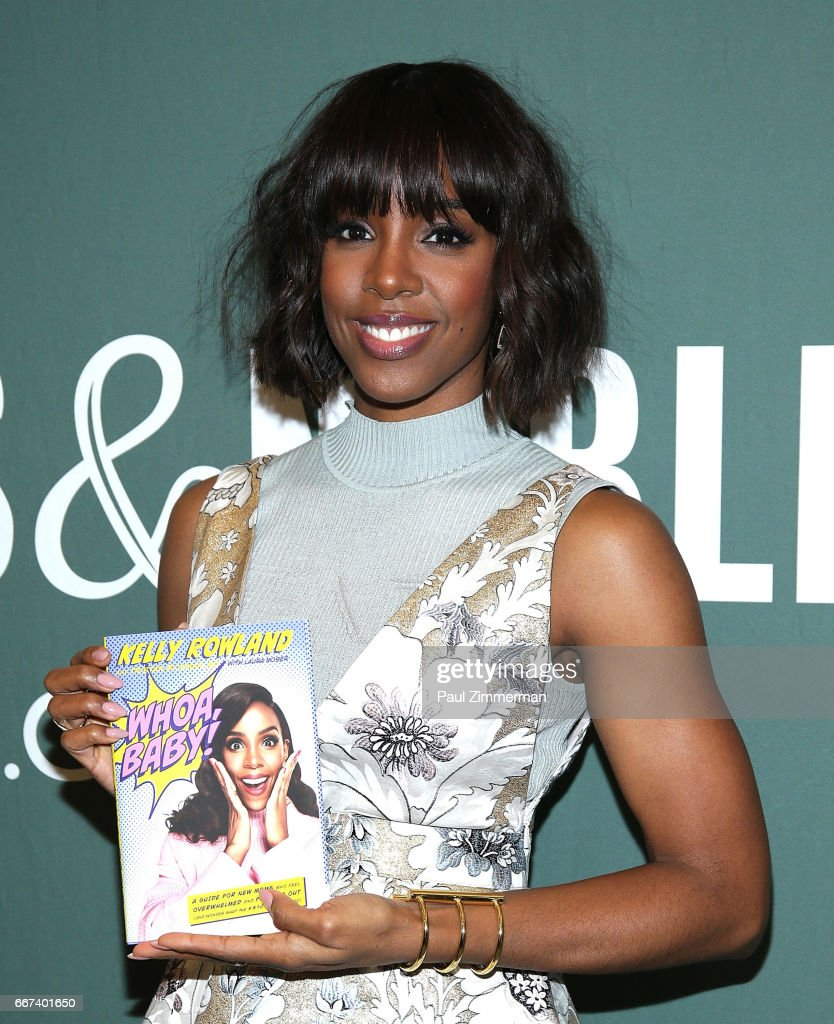 """Kelly Rowland Signs Copies Of Her New Book """"Whoa, Baby!: A Guide For New Moms Who Feel Overwhelmed And Freaked Out"""" : News Photo"""