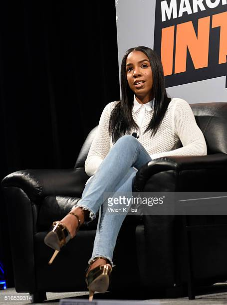 Kelly Rowland speaks during her 'Chasing Destiny' SXSW Interview at Austin Convention Center on March 19 2016 in Austin Texas