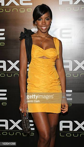 Kelly Rowland visits the AXE Lounge at Dune on June 11, 2010 in Southampton, New York.