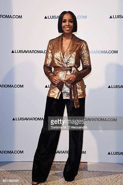 Kelly Rowland walks the red carpet of Firenze4ever 14th Edition Party hosted by LuisaViaRoma on January 9 2017 in Florence Italy