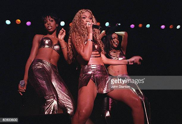 Kelly RowlandBeyonce Knowles and Michelle Williams of Destinys' Child perform live on stage at the Hordern Pavillion on July 18th 2000 in Sydney...