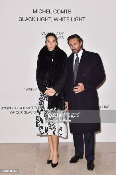 Kelly Russell and Manfredi Catella attend Michel Comte Black Light White Light Opening at Triennale di Milano on November 27 2017 in Milan Italy