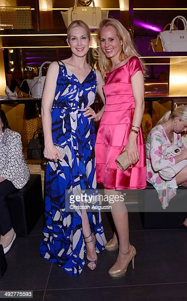Kelly Rutherford and Nadja Anna princess of SchaumburgLippe attends Escada Flagshipstore Opening at Kaisergalerie on May 21 2014 in Hamburg Germany