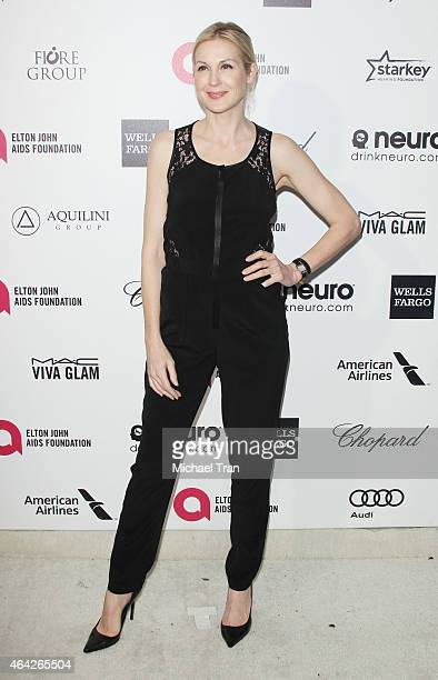 Kelly Rutherford arrives at the 23rd Annual Elton John AIDS Foundation Academy Awards viewing party held at The City of West Hollywood Park on...
