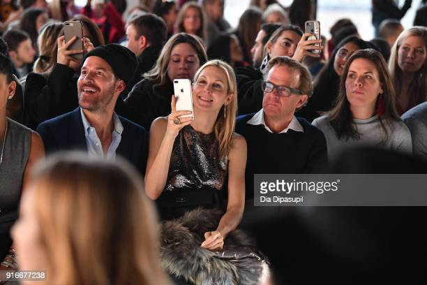 Kelly Rutherford attend the Son Jung Wan fashion show during New York Fashion Week The Shows at Gallery I at Spring Studios on February 10 2018 in...