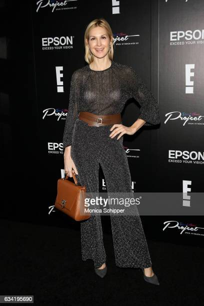 Kelly Rutherford attends the Epson Digital Couture Presentation February 2017 during New York Fashion Week at IAC Building on February 7 2017 in New...