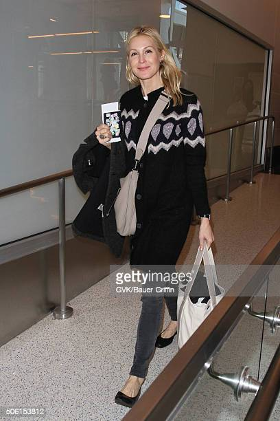 Kelly Rutherford is seen at LAX on January 21 2016 in Los Angeles California