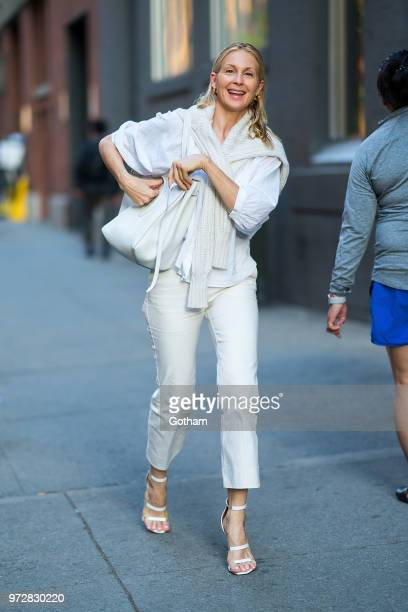 Kelly Rutherford is seen in Chelsea on June 12 2018 in New York City