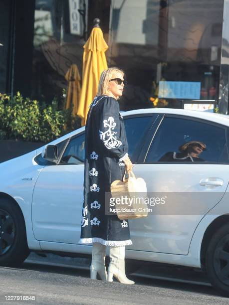 Kelly Rutherford is seen on August 04, 2020 in Los Angeles, California.