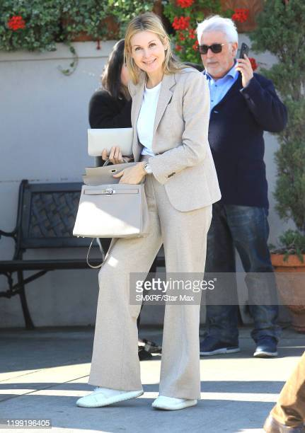 Kelly Rutherford is seen on February 6, 2020 in Los Angeles, California.