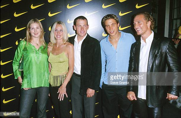 Kelly Rutherford Lance Armstrong Kristin Richard and Matthew McConaughey