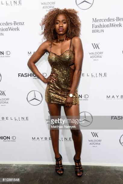 Kelly Sandba attends the Odeur show during the MercedesBenz Fashion Week Berlin Spring/Summer 2018 at Kaufhaus Jandorf on July 7 2017 in Berlin...
