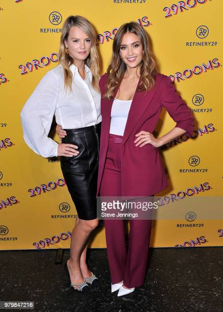 Kelly Sawyer Patricof and Actress Jessica Alba attend 'Refinery29's 29Rooms Turn It Into Art' on June 20 2018 in San Francisco California