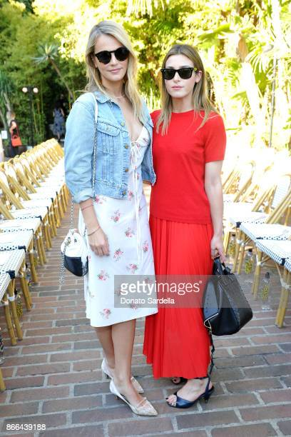 Kelly Sawyer Patricof and Jamie Schneider attend CFDA/Vogue Fashion Fund Show and Tea at Chateau Marmont at Chateau Marmont on October 25 2017 in Los...
