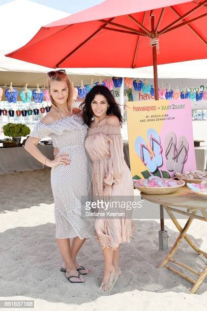 Kelly Sawyer Patricof and Jenna Dewan Tatum attend Baby2Baby Beach Playdate Presented By Havaianas on June 2 2017 in Santa Monica California