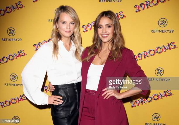 Kelly Sawyer Patricof and Jessica Alba attend Refinery29's 29Rooms San Francisco Turn It Into Art Opening Party 2018 at Palace of Fine Arts on June...