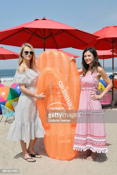 Kelly Sawyer Patricof and Norah Weinstein attend Baby2Baby Beach Playdate Presented By Havaianas on June 2 2017 in Santa Monica California