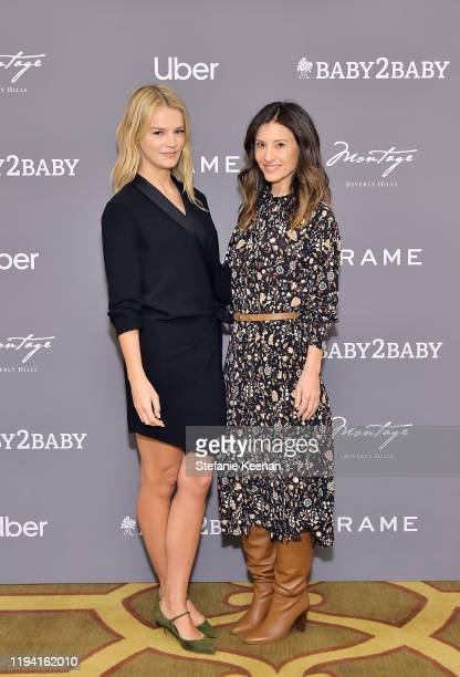 Kelly Sawyer Patricof and Norah Weinstein attend The Baby2Baby Holiday Party Presented By FRAME And Uber at Montage Beverly Hills on December 15,...