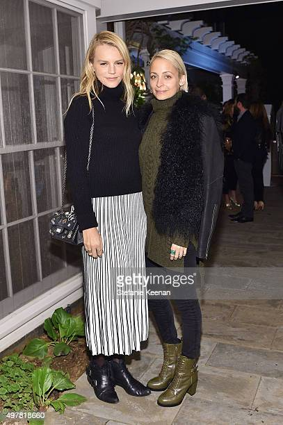 Kelly Sawyer Patricof and TV Personality Nicole Richie attend Barneys New York Jennifer Aniston and Tobey Maguire host a private dinner to celebrate...
