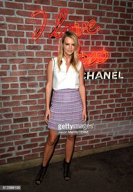 Kelly Sawyer Patricof attends the I Love Coco Backstage Beauty Lounge at Chateau Marmont's Bar Marmont on February 25 2016 in Hollywood California