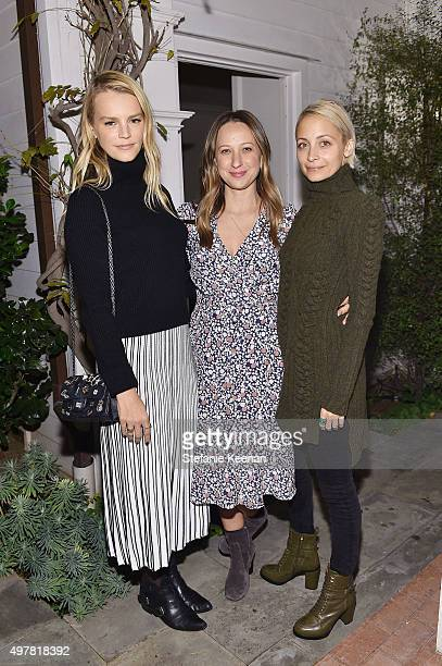 Kelly Sawyer Patricof designer Jennifer Meyer and TV Personality Nicole Richie attend Barneys New York Jennifer Aniston and Tobey Maguire host a...