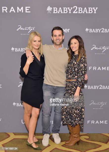 Kelly Sawyer Patricof, Jens Grede and Norah Weinstein attend The Baby2Baby Holiday Party Presented By FRAME And Uber at Montage Beverly Hills on...