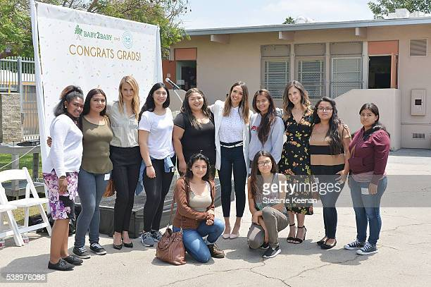Kelly Sawyer Patricof Jessica Alba Norah Weinstein and graduates attend Baby2Baby and The Honest Company Host LAUSD Graduation Event to Support...