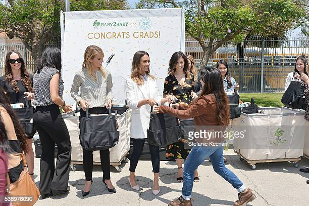 Kelly Sawyer Patricof Jessica Alba Norah Weinstein and student attend Baby2Baby and The Honest Company Host LAUSD Graduation Event to Support Mothers...