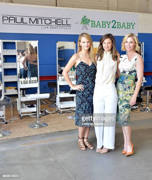 Kelly Sawyer Patricof Julie Bowen and Norah Weinstein attend Baby2Baby Partner Appreciation Day Presented By Paul Mitchell at Baby2Baby Warehouse on...