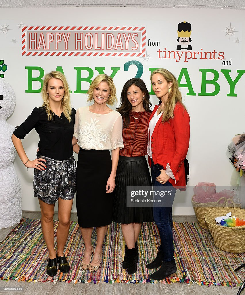 Kelly Sawyer Patricof, Julie Bowen, Norah Weinstein and Actress Elizabeth Berkley attend the Baby2Baby Nutcracker Party, Presented By Tiny Prints on November 20, 2014 in Los Angeles, California.