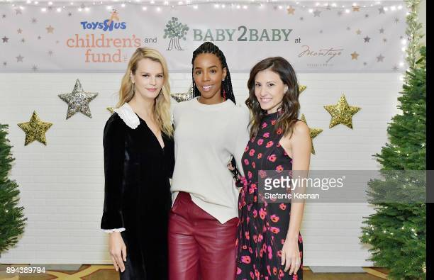 Kelly Sawyer Patricof Kelly Rowland and Norah Weinstein attend The Baby2Baby Holiday Party presented by Toys'R'Us at Montage Beverly Hills at Montage...