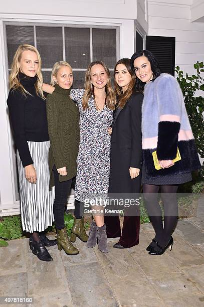 Kelly Sawyer Patricof Nicole Richie designer Jennifer Meyer stylist Jamie Schneider and singer Katy Perry attend Barneys New York Jennifer Aniston...
