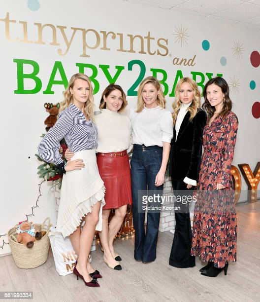 Kelly Sawyer Patricof Sasha Alexander Julie Bowen Rachel Zoe and Norah Weinstein attend Tiny Prints Presents The Baby2Baby Holiday Wrapping Party at...