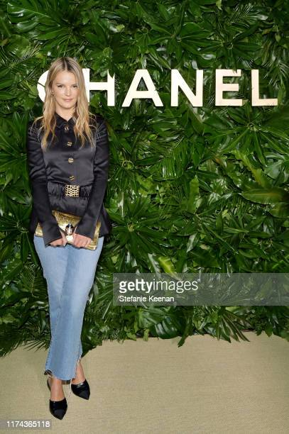 Kelly Sawyerwearing CHANEL attends Chanel Dinner Celebrating Gabrielle Chanel Essence With Margot Robbie on September 12 2019 in Los Angeles...