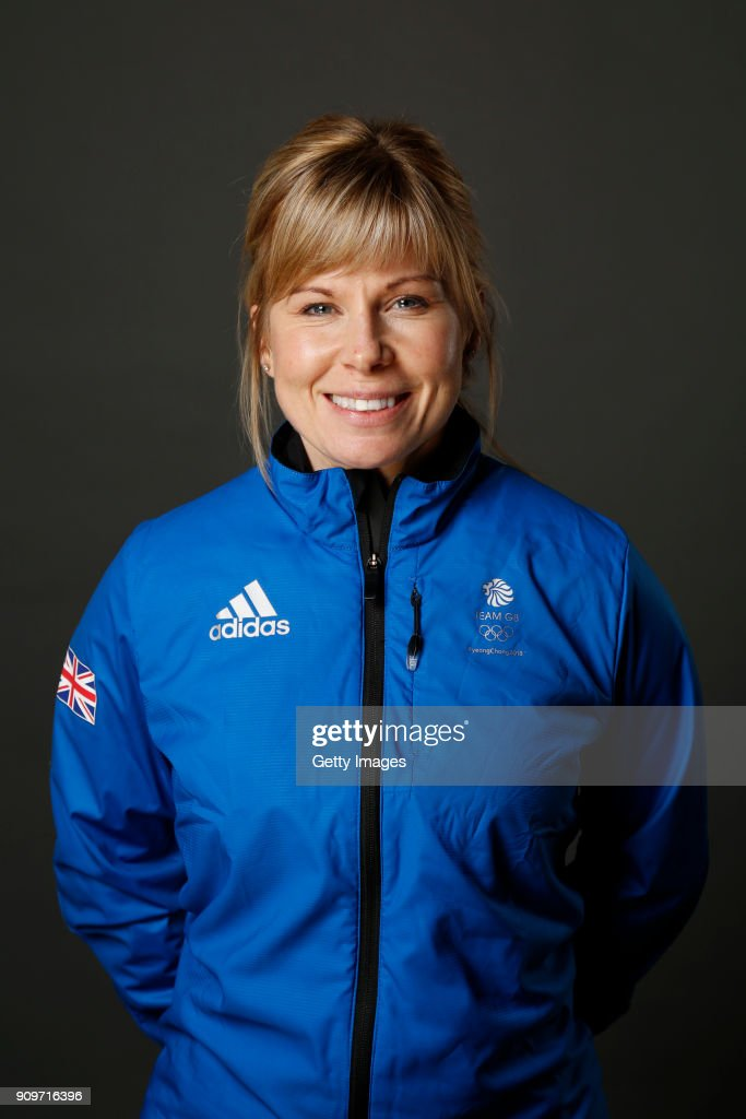 Kelly Schafer poses at The Team GB Kitting Out Ahead Of Pyeongchang 2018 Winter Olympic Games on January 24, 2018 in Stockport, England.