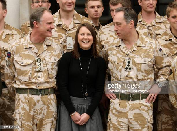Kelly Shepherd the widow of Captain Daniel Shepherd of the Royal Logistics Corp who was awarded a posthumous George Medal in the Operational Awards...