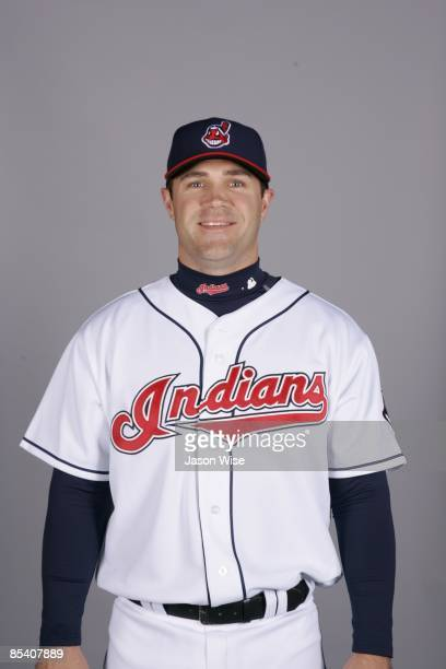 Kelly Shoppach of the Cleveland Indians poses during Photo Day on Saturday February 21 2009 at Goodyear Ballpark in Goodyear Arizona