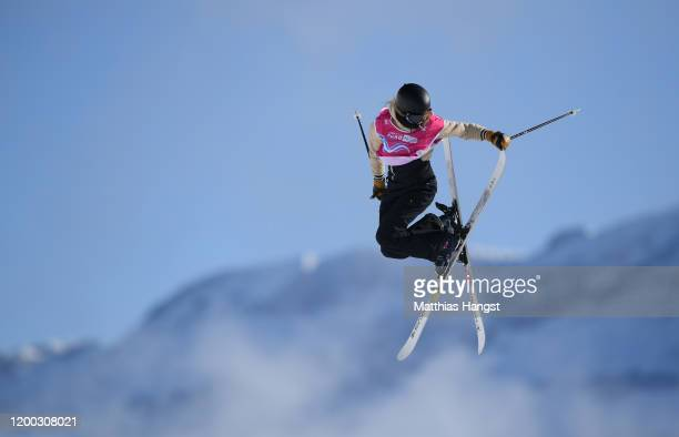 Kelly Sildaru of Estonia competes in Women's Freeski Slopestyle Final during day 9 of the Lausanne 2020 Winter Youth Olympics at Leysin Park & Pipe...
