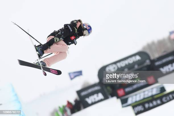 Kelly Sildaru of Estonia wins the gold medal during the FIS World Freestyle Ski Championships Men's and Women's Halfpipe on February 9 2019 in Park...