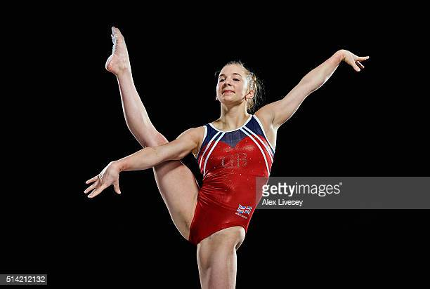 Kelly Simm of the British Gymnastics Team poses during a portrait session at Lilleshall National Sports Centre on February 11 2016 in Shropshire...