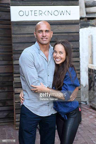 Kelly Slater and Kalani Miller attend Kelly Slater John Moore and Friends Celebrate the Launch of Outerknown at Private Residence on August 29 2015...