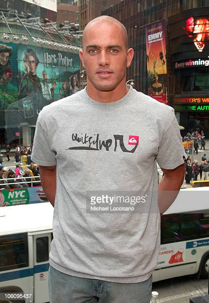 Kelly Slater during Kelly Slater and Seth Green Visit MTV's 'TRL' March 24 2006 at MTV Studios Times Square in New York City New York United States