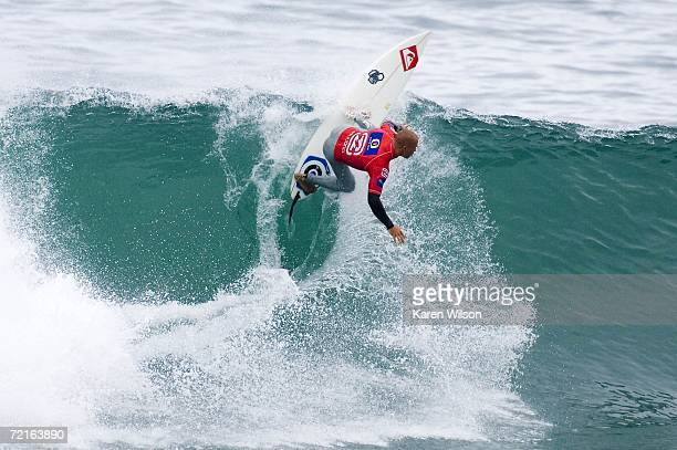 Kelly Slater of Cocoa Beach Florida competes on his way to the record eigth world title in the Billabong Pro Mundaka on October 13 2006 in Mundaka...