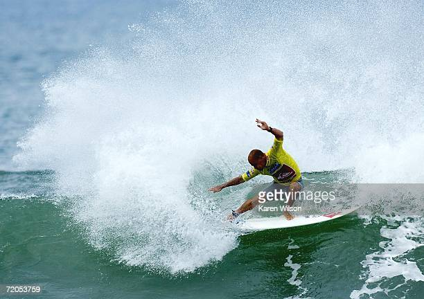 Kelly Slater of the US surfs during the Quiksilver Pro France event of the Fosters Men's ASP World Tour on September 30 2006 in Hossegor France