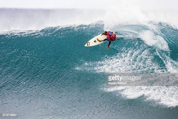 Kelly Slater of the USA competes during the Rip Curl Pro on April 20 2006 at Bells Beach Australia