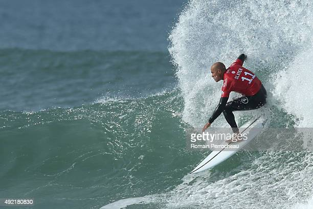 Kelly Slater of USA surfs into round 3 of Quiksilver Pro on October 10 2015 in Hossegor France