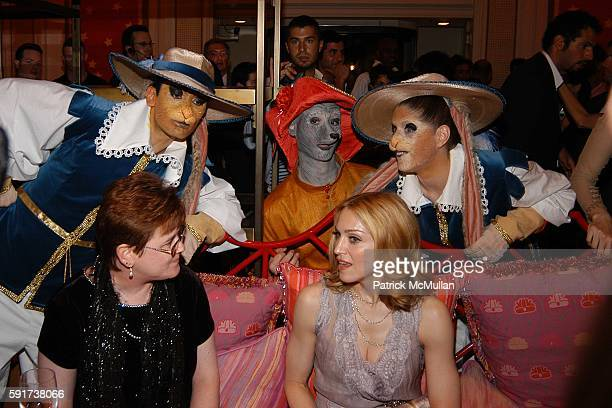 Kelly Smith and Madonna attend Madonna Childrens Book Lotsa de Casha published by Callaway Arts and Entertainment at Bergdorf Goodman on June 7 2005...