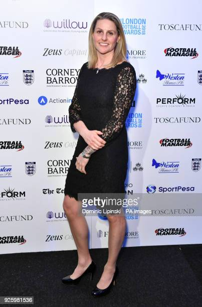 Kelly Smith arriving for the 2018 London Football Awards at Battersea Evolution London